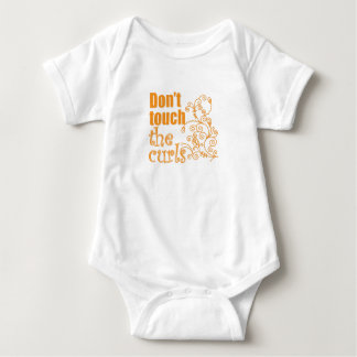 Don't Touch the Curls! Baby Bodysuit