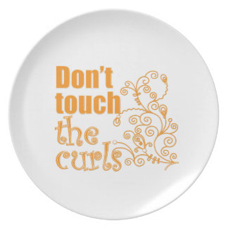 Don't Touch the Curls! Plate