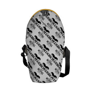 Don't Trash the Stache Mustache Retro Hipster Courier Bags