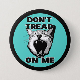 "Don't Tread On Me button (3"")"