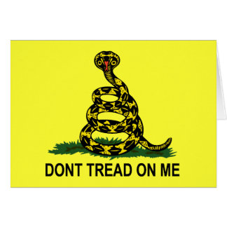 Dont Tread On Me Cobra Card