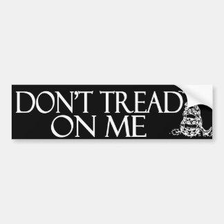 Don't Tread on Me!  Gadsden Flag Bumper Sticker