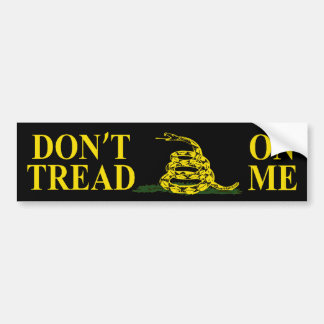 DON'T TREAD ON ME GADSDEN FLAG Bumper Sticker
