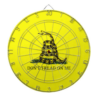 Dont Tread On Me Gadsden Flag Dartboard