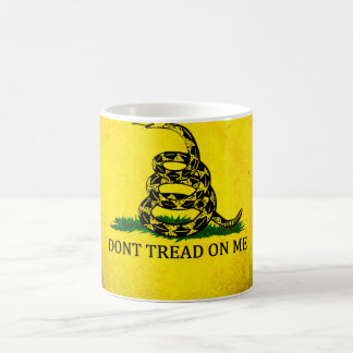 Dont Tread On Me Gadsden Flag - Distressed Coffee Mug