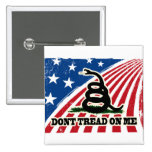 Don't Tread on Me, Gadsden flag, red white blue Buttons