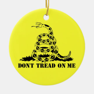 Dont Tread On Me Gadsden Flag Snake Symbol Ceramic Ornament