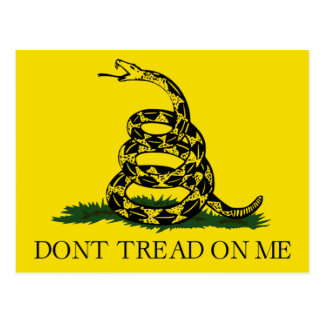 Don't Tread on Me, Gadsden flag tea party Postcard