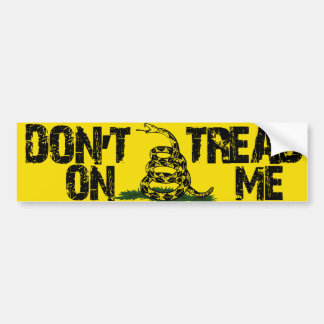 DONT TREAD ON ME GASDEN FLAG BUMPER STICKER