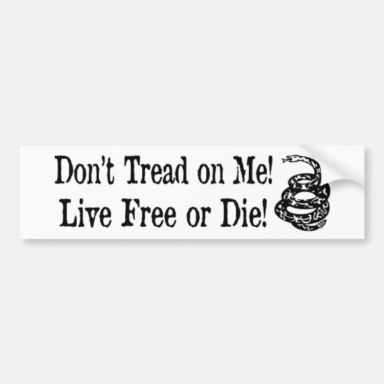 Don't Tread On Me - Live Free or Die Sticker