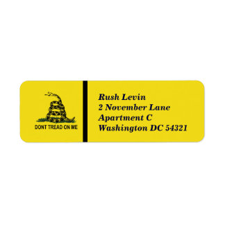 Dont Tread On Me Personalized Return Address Label