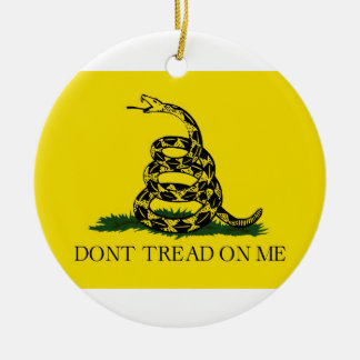 Dont Tread On Me Revolutionary War Gadsden Flag Ceramic Ornament