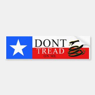 Don't Tread On Me - TEXAS Bumper Sticker