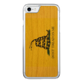 Don't Tread on Me - Wood Backed iPhone 7 Case