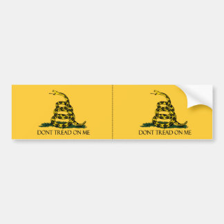 Don't Tread on Me, Yellow Gadsden Flag Decal 2-up Bumper Sticker