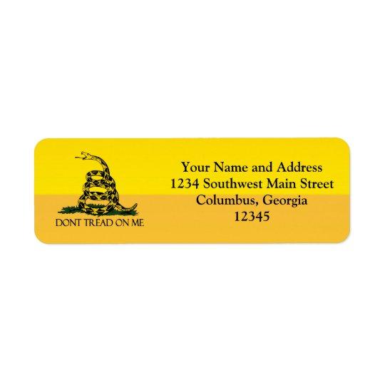 Don't Tread on Me, Yellow Gadsden Flag Ensign
