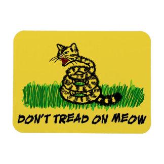 Don't Tread on Meow Rectangular Photo Magnet