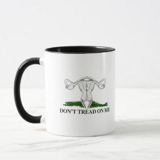 Don't Tread on my Uterus - Transparent - Mug