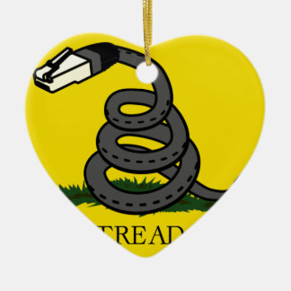 dont-tread-on-net2 ceramic ornament