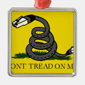 dont-tread-on-net2 metal ornament