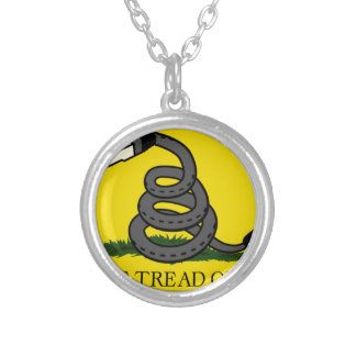 dont-tread-on-net2 silver plated necklace
