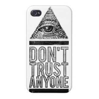 Don't trust anyone iPhone 4/4S cover