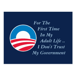 Don't Trust Government Postcard