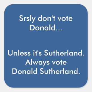 Don't Vote Donald Sticker