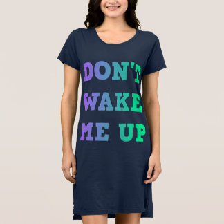 Don't Wake Me Up Gradient Text Dress
