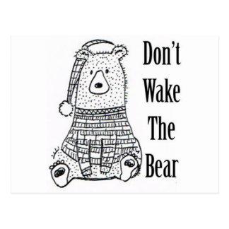 Don't Wake The Bear Postcard