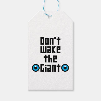 Don't wake the Giant Gift Tags