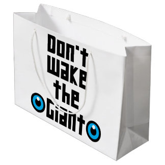 Don't wake the Giant Large Gift Bag