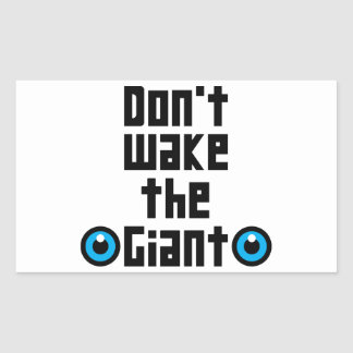 Don't wake the Giant Sticker