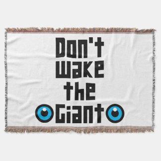 Don't wake the Giant Throw Blanket