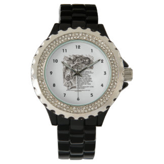 Don't Want To Go Among Mad People Alice Cheshire Wristwatch