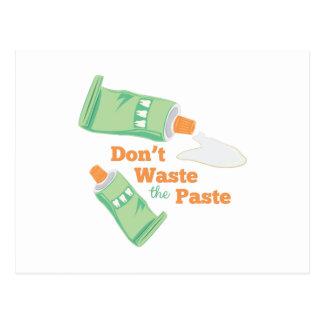 Dont Waste Paste Postcard