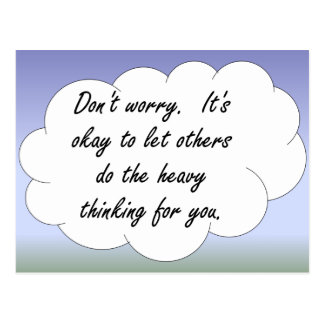 Don't Worry About Plagiarism Postcard