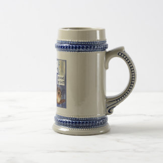don't worry be happy humor beer stein