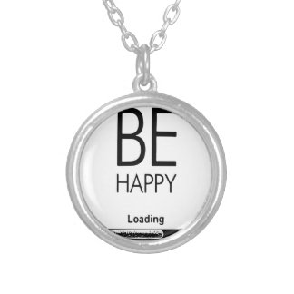 DONT WORRY BE HAPPY LOADING.ai Silver Plated Necklace