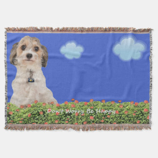 Don't Worry, Be Happy! Throw Blanket
