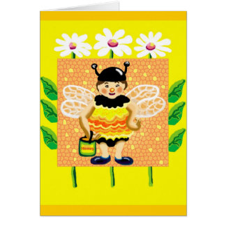 Don't worry, bee happy card