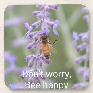 Don't Worry, Bee Happy Coasters