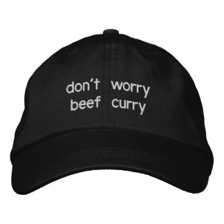 don't worry beef curry embroidered hat