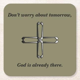 Don't Worry Coasters w/Steel Cross
