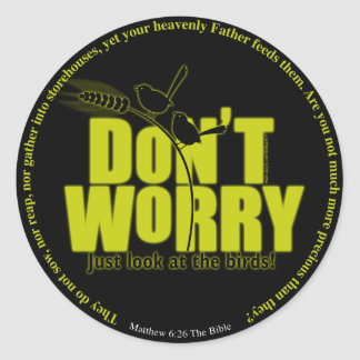 Don't Worry Dark Colors Stickers