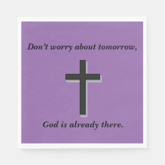 Don't Worry Napkins w/Black Cross