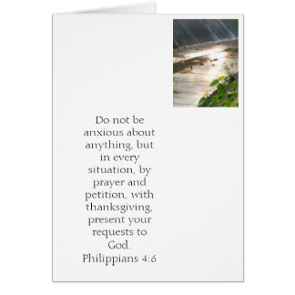 Don't worry. Philippians 4:6 Card