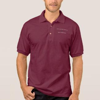 Don't Worry Polo Shirt w/Black Cross