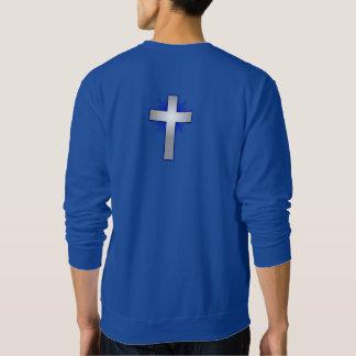 Don't Worry Sweatshirt w/Blue Flared Cross