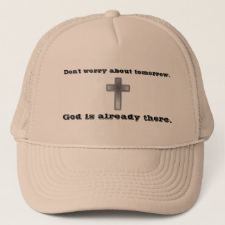 Don't Worry Trucker Hat w/Blue Cross